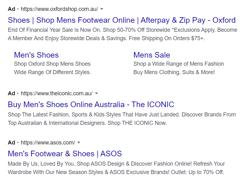 Text Search Ad Example