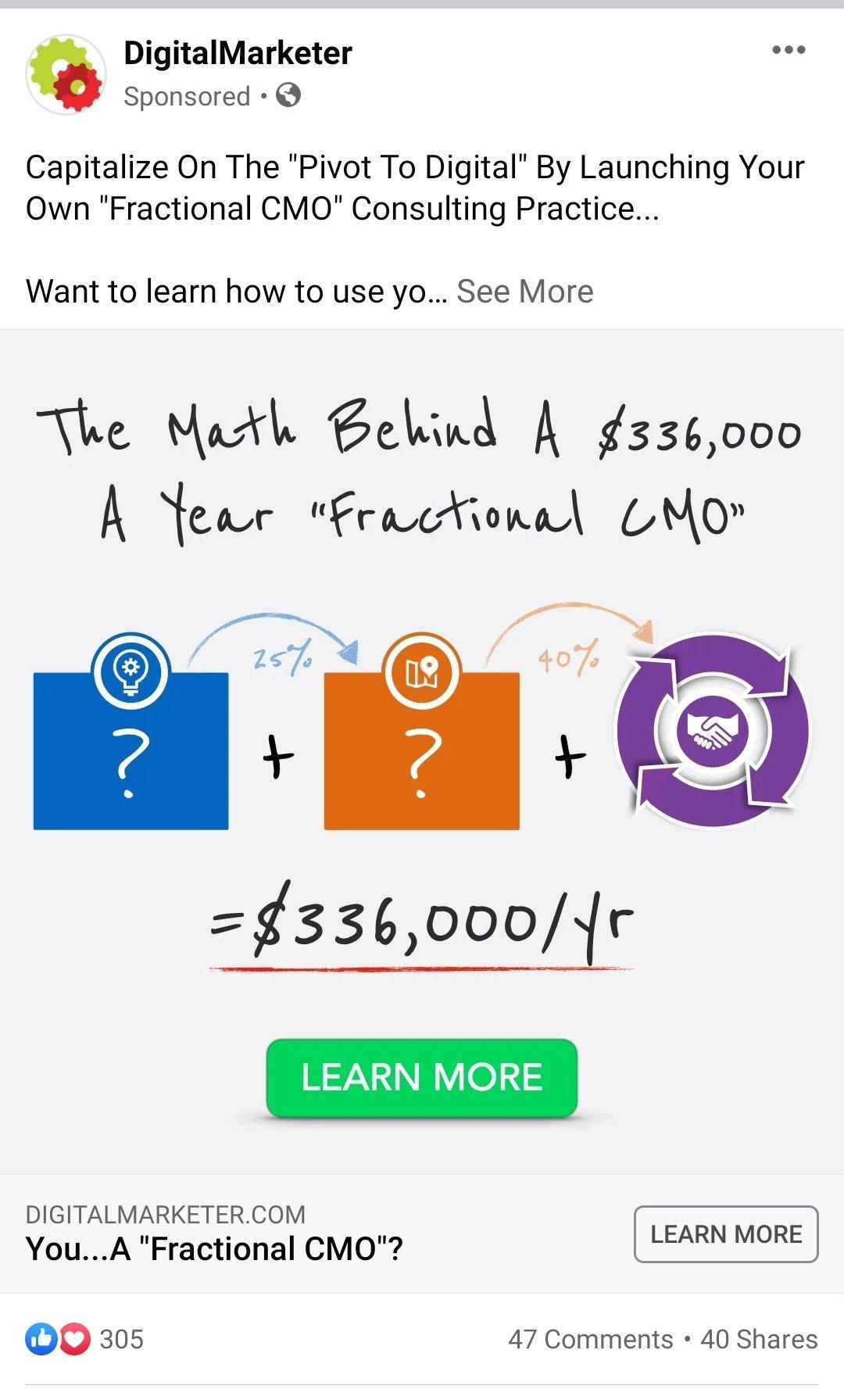Facebook Ad Example - Digital Marketer