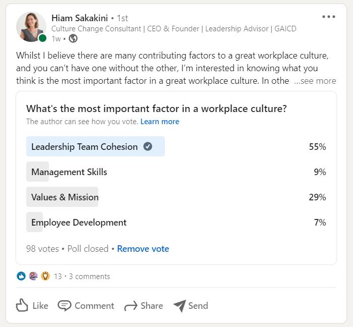 LinkedIn Poll Example