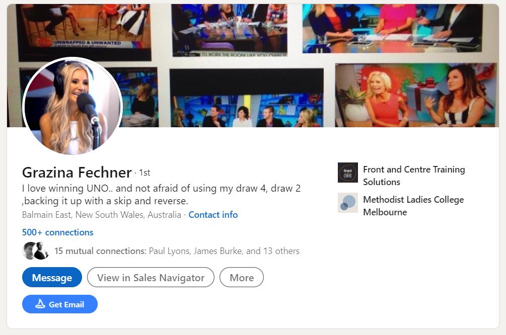 LinkedIn Profile Example