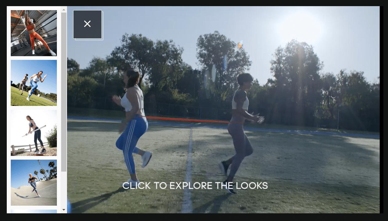 Interactive Content - Adidas